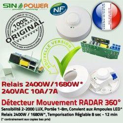 360° de Ampoules Radar Micro-Ondes Mouvement HF Luminaire Éclairage Capteur SINOPower Détecteur Automatique Hyperfréquence LED Relais