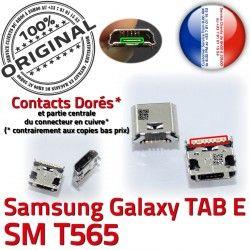 Connecteur ORIGINAL Micro Pins SM-T565 Dock Dorés Chargeur E de T565 souder à Samsung USB 9 Connector charge TAB SM inch Galaxy Prise