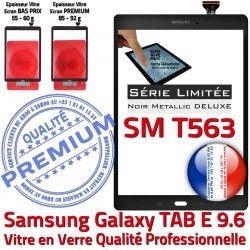 Samsung Adhésif T563 SM-T563 Assemblé Noire Galaxy PREMIUM Verre Vitre Tactile Ecran Metallic Assemblée SM Metal Noir Qualité N 9.6 TAB-E