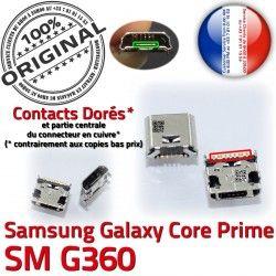 MicroUSB Qualité Core Samsung G360 Chargeur Galaxy Dock souder USB Dorés Connector SM Prise de à Prime ORIGINAL charge Pins SM-G360 Micro Fiche