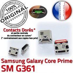 USB Galaxy Core Prise Micro Prime Pins Connector Dorés Chargeur souder Qualité G361 Charge de charge ORIGINAL Connecteur SM-G361 Samsung SM à