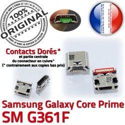 USB Galaxy à Connector Connecteur Samsung Charg ORIGINAL Chargeur charge SM SM-G361F de Pins Qualité Dorés souder Prime Core Prise G361F Micro