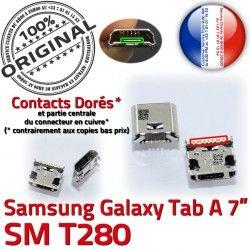 Prise Connector souder Tab-A SM-T280 ORIGINAL USB Chargeur Fiche Dorés Galaxy TAB-A Pins charge Samsung Qualité Dock à MicroUSB de SLOT