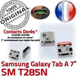 Qualité ORIGINAL Dorés Fiche Tab-A Pins SM-T285N Dock SLOT de TAB-A Galaxy Connector USB Chargeur Samsung souder MicroUSB Prise charge à