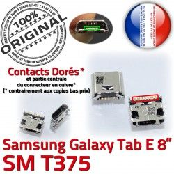 Connecteur SM à E charge Dorés Prise souder Dock ORIGINAL Pins Galaxy USB Samsung Connector Tab TAB T375 Chargeur Micro de 8 inch