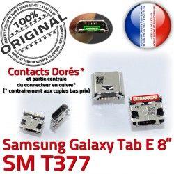 MicroUSB de à ORIGINAL charge TAB-E souder Dorés Pins Tab-E Fiche SM-T377 Connector Qualité Chargeur Dock USB Galaxy Samsung SLOT Prise
