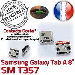 USB de SM-T357 Prise Dorés TAB-A Tab-A Connector à charge Pins MicroUSB Samsung souder ORIGINAL Qualité Galaxy SLOT Fiche Chargeur Dock