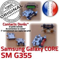 ORIGINAL Dorés Samsung à Core de Micro Pins USB G355 Charge SM-G355 Galaxy Connector souder 2 Connecteur SM Qualité Prise PORT Chargeur charge