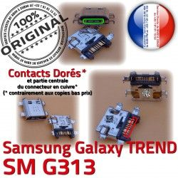 souder Samsung Micro charge S Galaxy DUOS Qualité Dock Dorés Prise USB TREND Fiche Pins à SM ORIGINAL G313 Chargeur de Connector SM-G313 MicroUSB