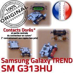 SM-G313HU USB Charge Pins Chargeur souder à charge SM TREND Connecteur Qualité Connector Samsung DUOS Prise Micro Galaxy G313HU ORIGINAL Dorés de