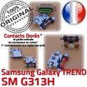 TREND S DUOS SM-G313H USB Charge Connector Qualité G313H Galaxy Prise SM Samsung souder charge Dorés Chargeur ORIGINAL Connecteur Pins de à Micro