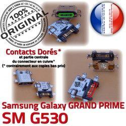 Prise SM souder PRIME à Samsung SM-G530 Dock Connector Pins Dorés MicroUSB USB Galaxy Qualité charge G530 ORIGINAL GRAND Chargeur Fiche de Micro