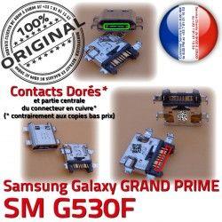 PRIME G530F USB Galaxy SM Chargeur Dock Connector GRAND Fiche à Micro souder Pins de ORIGINAL charge MicroUSB Qualité Samsung Dorés Prise SM-G530F