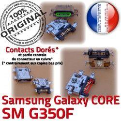 SM-G350F Prise Chargeur USB charge Dock Plus Qualité Galaxy SM de Micro Samsung à ORIGINAL Dorés MicroUSB Connector Pins Core Fiche souder G350F