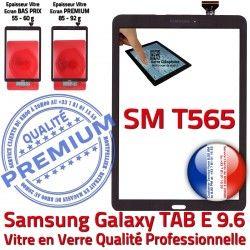 Noir 9.6 Ecran Tactile Vitre Assemblée Adhésif Supérieure Noire Assemblé SM PREMIUM Verre SM-T565 T565 Galaxy Samsung Qualité TAB-E