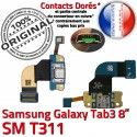 SM-T311 Micro USB TAB3 Charge Connecteur Samsung Réparation Galaxy TAB MicroUSB de Qualité Contacts Chargeur 3 ORIGINAL T311 OFFICIELLE SM Nappe Dorés