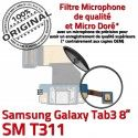 SM-T311 Micro USB TAB3 Charge T311 Réparation Contacts Samsung TAB 3 Qualité ORIGINAL Nappe Dorés MicroUSB Connecteur SM OFFICIELLE Galaxy de Chargeur