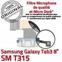 SM-T315 Micro USB TAB3 Charge TAB OFFICIELLE T315 Qualité Dorés de Samsung Contacts Galaxy Réparation Connecteur ORIGINAL 3 SM Chargeur MicroUSB Nappe