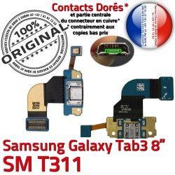 Charge Qualité Connecteur Microphone Galaxy 3 Nappe TAB Réparation Port Prise Chargeur T311 TAB3 USB Fiche Samsung SM de SM-T311 MicroUSB ORIGINAL