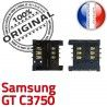 Samsung GT c3750 S Dorés SLOT Connector Reader Prise Lecteur Contacts Pins à Connecteur Carte SIM souder OR Card ORIGINAL