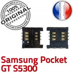 Contacts SIM Samsung Reader s5300 à Carte Dorés souder Connecteur S Galaxy Pocket OR ORIGINAL Lecteur GT SLOT Pins Card Connector