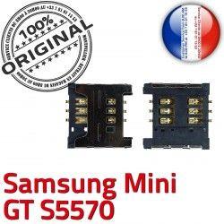 Carte Samsung S SLOT s5570 Reader souder GT Connector ORIGINAL Contacts Mini OR Dorés SIM à Card Connecteur Galaxy Lecteur Pins