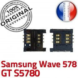 Pins Wave Connecteur Reader Contacts Lecteur SIM Card S 578 Prise Carte Dorés souder à s5780 GT Connector Samsung ORIGINAL OR SLOT