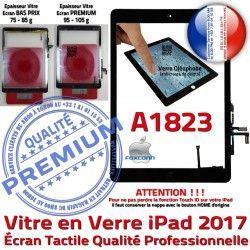 Verre Nappe IC Tactile Qualité Réparation Noir Tablette A1823 Oléophobe Ecran HOME Monté Vitre Caméra AIR Adhésif iPad Fixation