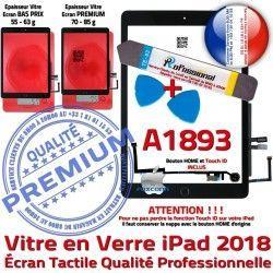 Verre A1893 PREMIUM Démontage iPad Adhésif Vitre HOME Réparation N Noire Qualité PACK Outils AIR Oléophobe Bouton Precollé Tactile KIT