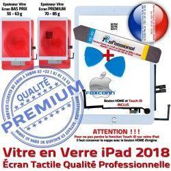 Outils KIT iPad Vitre Nappe Oléophobe Verre 9.7 Qualité iLAME Adhésif 2018 B PREMIUM Blanche inch Réparation Precollé PACK Bouton Tactile HOME