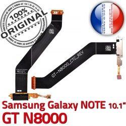 Chargeur Dorés Charge NOTE Qualité Connecteur Samsung de MicroUSB Galaxy GT-N8000 Contacts Réparation Nappe OFFICIELLE Ch ORIGINAL