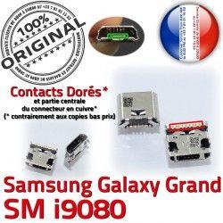 ORIGINAL Connector Grand charge Samsung Connecteur Chargeur Dock Micro à i9080 Dorés Galaxy souder Pins Prise de USB Qualité GT