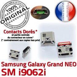 charge NEO Micro Connecteur à Connector Dock Pin Grand USB ORIGINAL i9062i Qualité souder GT Prise Galaxy Samsung Chargeur Doré