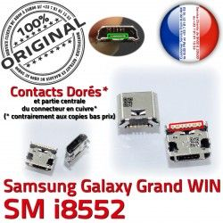 MicroUSB Dorés de GT-i8552 Dock USB SLOT Fiche à Qualité Prise Pins Connector charge Chargeur ORIGINAL souder Win Galaxy Samsung