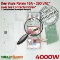 Programmateur Extracteur 16A DIN Automatique Programmation 4kW électrique Electronique Journalière Rail Tableau Digital 4000W Minuterie