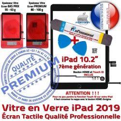 iPad A2198 Outil 2019 PREMIUM PACK Nappe Bouton N Réparation Tactile Qualité KIT Adhésif A2197 Noire A2200 Precollé Tablette Verre Démontage HOME Vitre