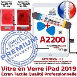 Nappe PREMIUM Precollé Outils Bouton Vitre iPad Tactile Verre B PACK KIT Adhésif HOME Blanche Oléophobe Qualité Réparation 2019 A2200