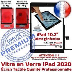 Verre Caméra HOME A2430 Bouton Ecran PREMIUM iPad Tactile Fixation Adhésif N A2429 Precollé Vitre Remplacement A2428 A++ Noir A2270 Qualité 2020 Oléophobe