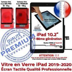 Fixation 10.2 inch Tactile Adhésif Precollé Noir iPad Caméra Ecran PREMIUM Oléophobe Remplacement Qualité Vitre Verre 2019-2020