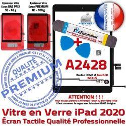 A2428 Bouton Réparation Vitre Tactile PREMIUM PACK N Démontage Precollé Outils iPad Adhésif Qualité Verre HOME KIT Oléophobe 2020 Noire