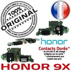 Honor PORT USB Nappe 9X Téléphone Microphone Câble ORIGINAL Qualité JACK Branchement C Charge OFFICIELLE Chargeur Antenne Micro