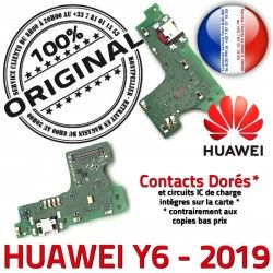 Micro Chargeur Microphone Prise Charge OFFICIELLE Qualité Y6 RESEAU de Nappe PORT ORIGINAL 2019 Antenne Huawei Téléphone USB