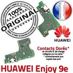 Qualité ORIGINAL Charge OFFICIELLE RESEAU Chargeur Nappe Connecteur Microphone Enjoy 9e Téléphone USB Antenne Huawei Prise Micro