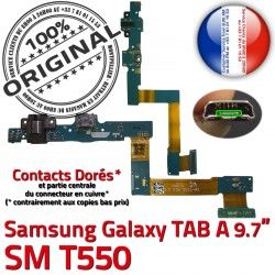 HOME T550 Galaxy A Jack SM-T550 ORIGINAL Ecouteurs Casque SM TAB MicroUSB Bouton Samsung Chargeur Nappe Réparation Charge Connecteur