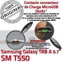 SM-T550 TAB A Jack Ecouteurs Galaxy Nappe Bouton Samsung Réparation MicroUSB T550 Chargeur SM Charge Casque ORIGINAL Connecteur HOME