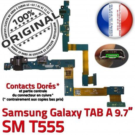 Samsung Galaxy TAB A SM-T555 HP de Flex Connecteur Réparation Bouton Parleur ORIGINAL T555 Nappe SM Chargeur OFFICIELLE Charge HOME Haut