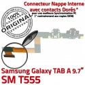 Samsung Galaxy TAB A SM-T555 HP HOME Haut ORIGINAL Connecteur Chargeur Nappe Charge de OFFICIELLE SM Réparation Bouton Flex T555 Parleur