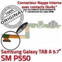 Samsung Galaxy TAB A SM-P550 C Contact P550 SM Doré de Nappe Charge OFFICIELLE MicroUSB Connecteur ORIGINAL Chargeur Réparation Qualité