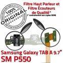 SM-P550 TAB A Jack Ecouteurs Casque Samsung Connecteur HOME ORIGINAL Chargeur Nappe Réparation Bouton Charge Galaxy SM MicroUSB P550