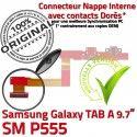 Samsung Galaxy TAB A SM-P555 C ORIGINAL MicroUSB de Réparation SM Chargeur P555 Charge Doré Connecteur Contact Qualité OFFICIELLE Nappe